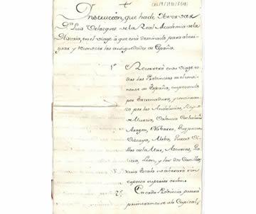 Real Orden e Instrucción del Viaje de las Antigüedades de España