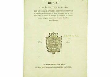 Real Cédula de Carlos IV de 6 de julio de 1803