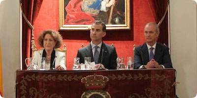 Visita de S.M. el Rey Felipe VI  a la Real Academia de la Historia