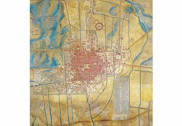 Plano de la ciudad mexicana