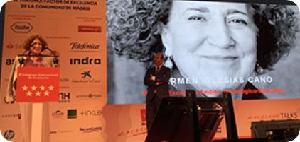 Carmen Iglesias, directora de la Real Academia de la Historia, reconocida con el Premio a la Excelencia de la Persona de la Comunidad de Madrid